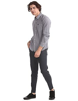 Flying Machine Grey Mankle Slim Fit Rinsed Jeans