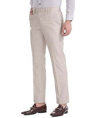 Excalibur Classic Fit Patterned Trousers