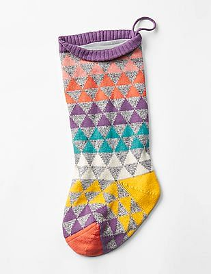 GAP Girls Geometric Fair Isle Stocking
