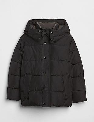 GAP Boys Black ColdControl Max Puffer Jacket