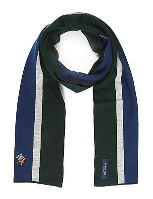 U.S. Polo Assn. Striped Wool Blend Muffler