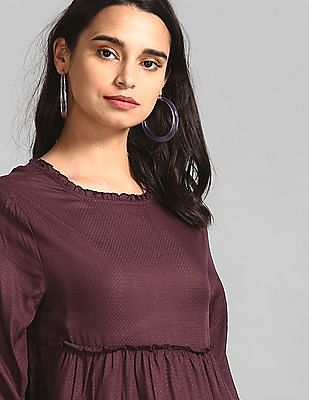 GAP Purple Tiered Ruffle Top