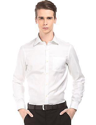 Arrow Basket Weave Slim Fit Shirt
