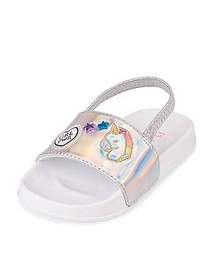 The Children's Place Toddler Girl Holographic Patch Slide