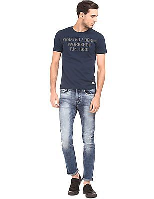 Flying Machine Printed Front Regular Fit T-Shirt