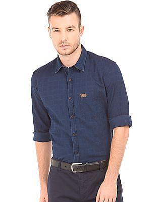 U.S. Polo Assn. Denim Co. Slim Fit Tonal Check Shirt