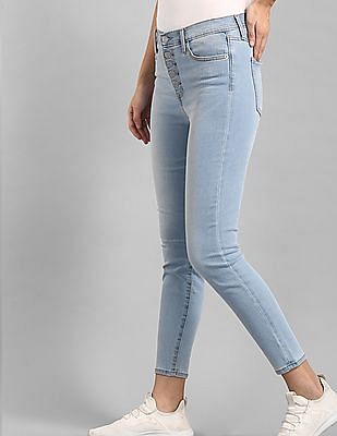 GAP Blue Super Skinny Fit High Waist Jeans