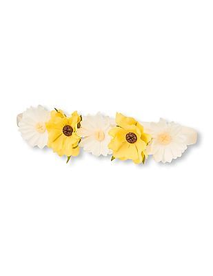 The Children's Place Toddler Girl Daisy Flower Crown Headwrap