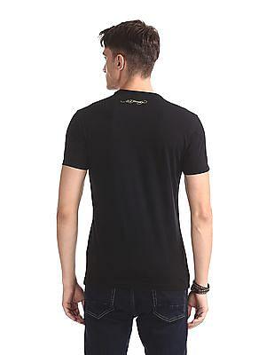 Ed Hardy Black Skull Print Crew Neck T-Shirt