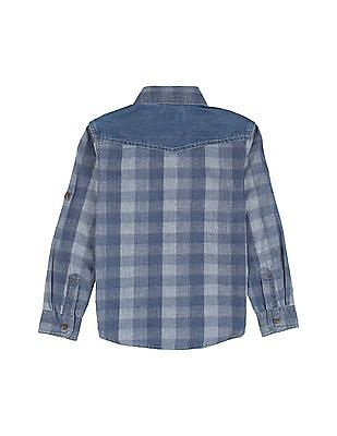 U.S. Polo Assn. Kids Boys Checked Chambray Shirt