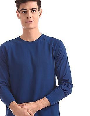 Cherokee Blue Raglan Sleeve Textured T-Shirt