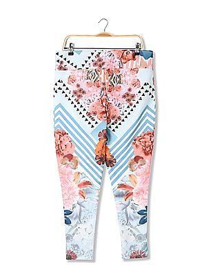 EdHardy Women Standard Fit Printed Pants