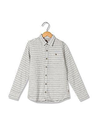 FM Boys Boys Slim Fit Striped Shirt