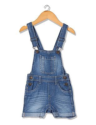 Donuts Girls Denim Dungarees