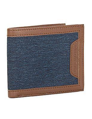 Flying Machine Denim Panel Bi-Fold Wallet