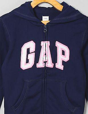 GAP Girls Zip Up Hooded Sweatshirt