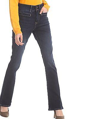 U.S. Polo Assn. Women Blue Slim Fit Boot Cut Jeans