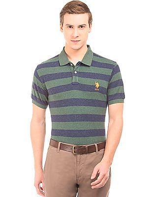 U.S. Polo Assn. Striped Cotton Linen Polo Shirt