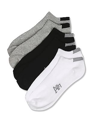 Aeropostale Solid Ankle Length Socks - Pack Of 3