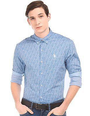 U.S. Polo Assn. Paisley Print Tailored Fit Shirt