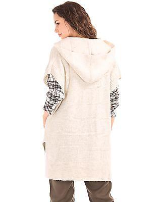 GAP Hooded Short Sleeve Poncho