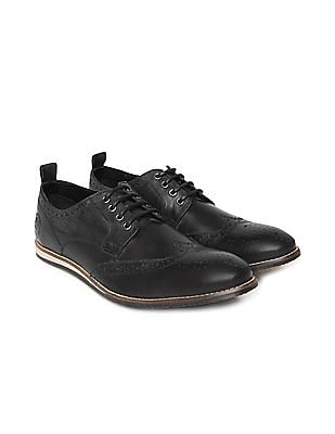 U.S. Polo Assn. Denim Co. Distressed Leather Wingtip Brogues