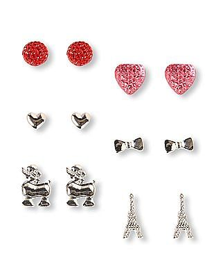 The Children's Place Girls Parisian Mixed Shape Earrings 6-Pack