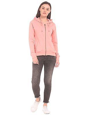 U.S. Polo Assn. Women Hooded Zip Up Sweatshirt