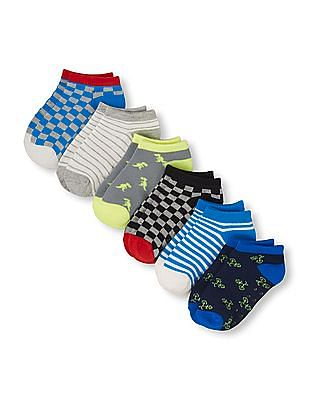 The Children's Place Toddler Boy Mix-Print Ped Socks 6-Pack