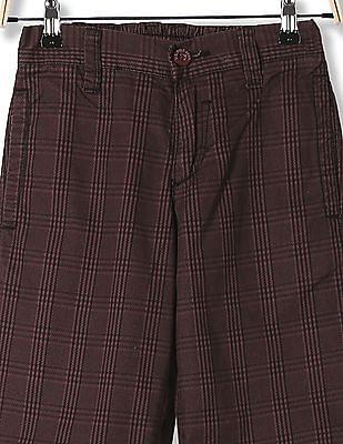 U.S. Polo Assn. Kids boys Standard Fit Check Trousers