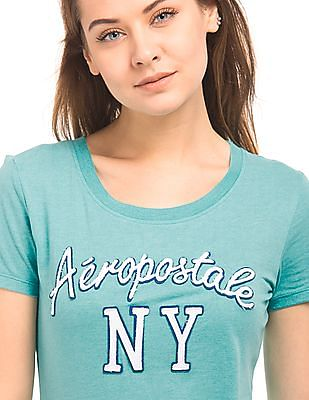Aeropostale Regular Fit Appliqued Front T-Shirt