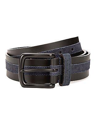 U.S. Polo Assn. Contrast Suede Leather Belt