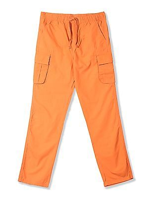 FM Boys Boys Drawstring Waist Cotton Cargos