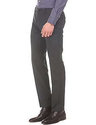 Excalibur Slim Fit Check Trousers