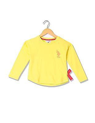 U.S. Polo Assn. Kids Girls Studded Sweatshirt