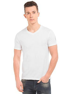 Flying Machine V-Neck Regular Fit T-Shirt