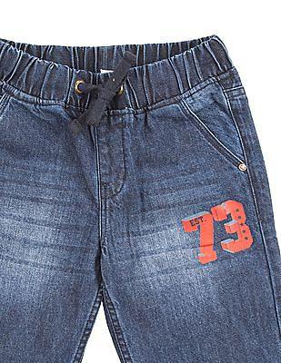 Cherokee Boys Stone Washed Denim Shorts