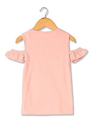 Colt Girls Cold Shoulder Hello Kitty Top