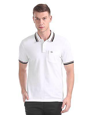 Arrow Sports Regular Fit Patterned Collar Polo Shirt