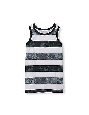 The Children's Place Boys Place Sport Sleeveless Printed Striped Tank Top