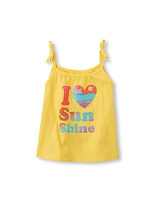 The Children's Place Toddler Girl Sleeveless Tie-Strap Tank Top