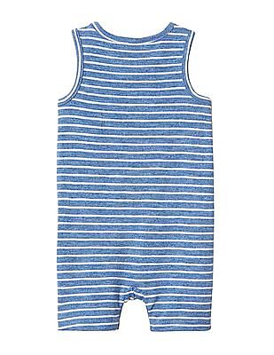 GAP Baby Blue Stripe Tank Shorty One Piece