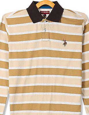 U.S. Polo Assn. Kids Boys Long Sleeve Striped Polo Shirt