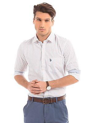 U.S. Polo Assn. Tailored Fit Cross Print Shirt
