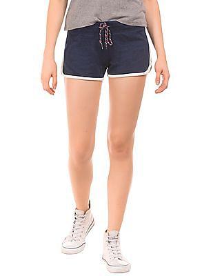 Aeropostale Contrast Trim Knit Shorts