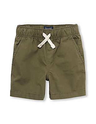 The Children's Place Toddler Boy Solid Woven Jogger Shorts