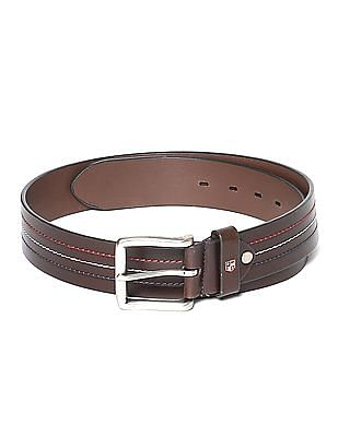 U.S. Polo Assn. Striped Leather Belt