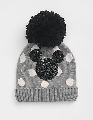 02affd8b730 GAP Girls Disney Mickey Mouse Pom Beanie