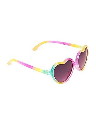 The Children's Place Toddler Girl Embellished Heart Sunglasses