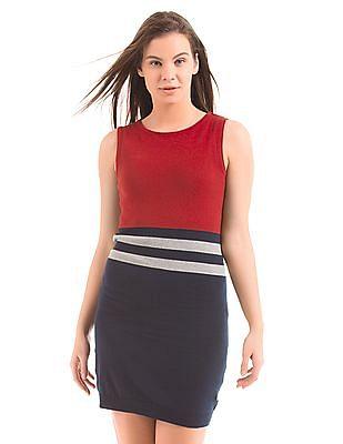 U.S. Polo Assn. Women Knitted Sheath Dress
